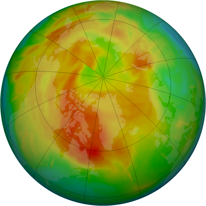 Arctic ozone map for 26 April 2011